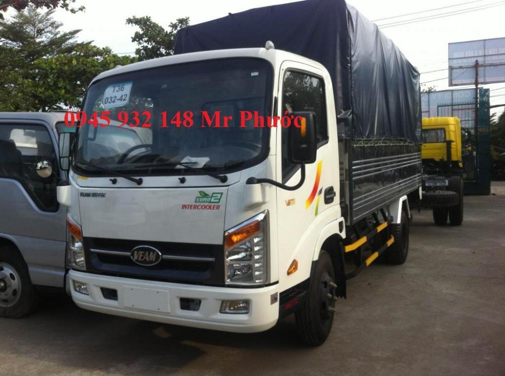 Xe Veam 2t4, xe tải Veam 2.4T, mua xe tải Veam VT252 2.4T máy Hyundai, xe Veam 2 tấn 4 vào thành phố