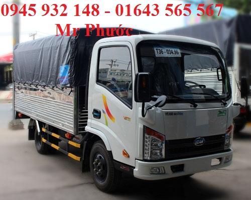 Xe Veam VT25 2.4T vào thành phố, xe tải Veam VT252-1 2t4, bán xe Veam 2T4 tặng trước bạ 100%