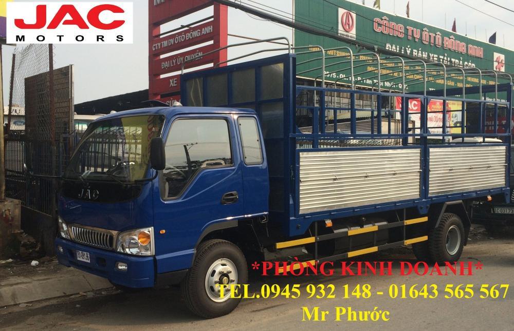 Xe tải JAC 7.25 tấn thùng mui bạt, xe tải JAC HFC1183K 7 tấn tặng trước bạ 100%
