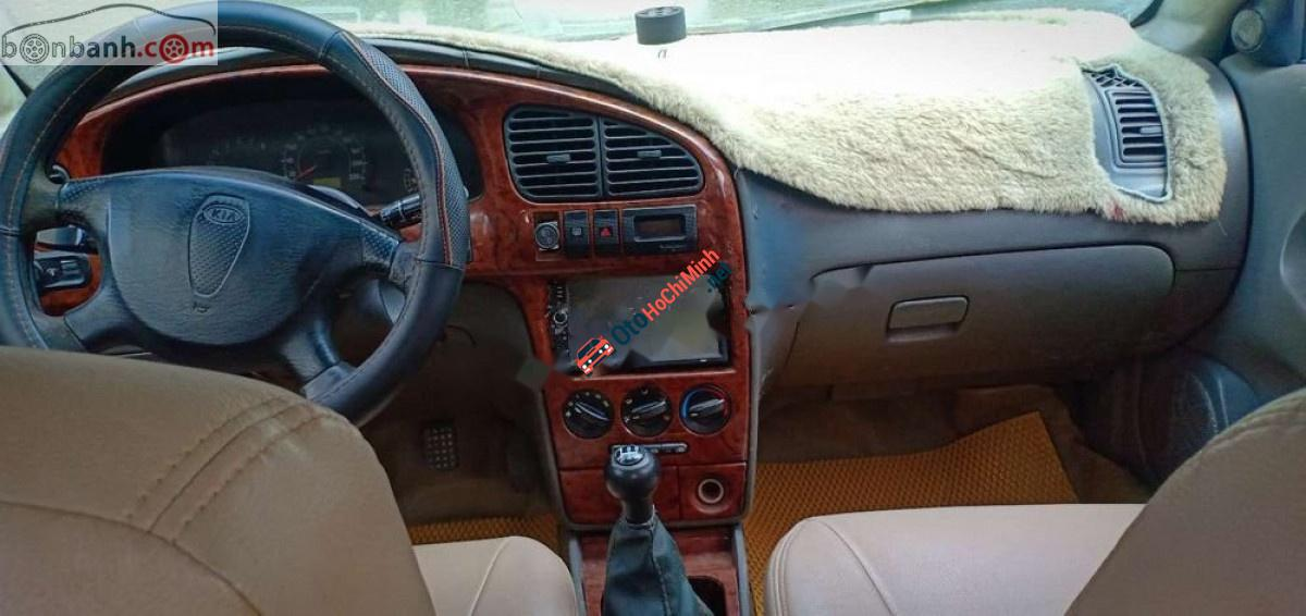 Xe Kia Spectra sản xuất năm 2004, màu bạc xe còn mới