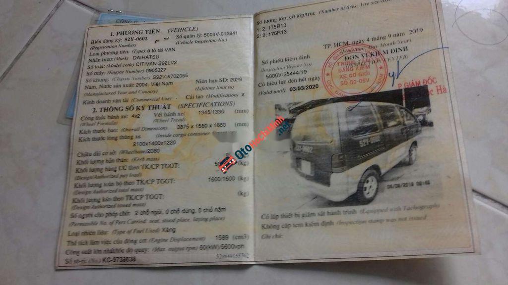 Daihatsu Citivan đời 2004, kẹt tiền nên cần bán