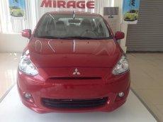 Mitsubishi Mirage CVT, màu đỏ, xe nhập, khuyến mại lớn 30/4