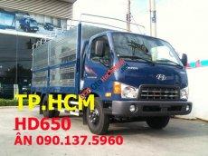 Bán Hyundai HD 500 đời mới, màu xanh, giá chỉ 565 triệu mui bạt inox thường