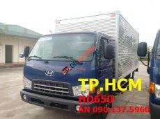 Cần bán Hyundai HD 500, màu xanh lam, thùng kín inox tốt