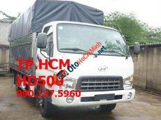 TP. HCM Hyundai HD500 mới, màu trắng, mui bạt inox 430
