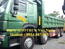 bán xe ben howo 4 chân 371 nhập khẩu - xe ben howo 371 4 chân (8x4) thùng đúc