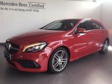 Bán xe Mercedes A250 đời 2017, màu đỏ, nhập khẩu chính hãng, mới 90%