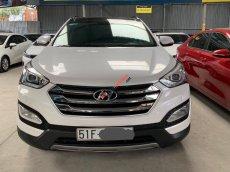 Bán xe Hyundai Santa Fe 2.4AT năm sản xuất 2015, màu trắng, bản full