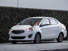 Cần bán gấp Mitsubishi Mirage MT năm sản xuất 2017, màu trắng số sàn