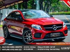 Bán Mercedes GLE 450 4matic Coupe sản xuất năm 2016, màu đỏ, nhập khẩu