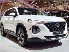 Bán xe Hyundai Santa Fe Premium 2020, màu trắng xe giao ngay