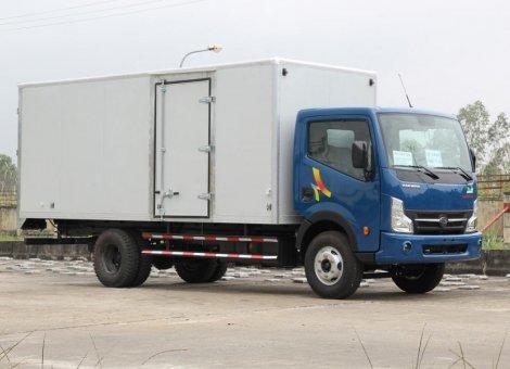 Xe tải Veam 6 tấn 49 động cơ Nissan/ Xe tải Veam VT651 thùng kín thùng bạc/ bán xe hỗ trợ trả góp đến 70%